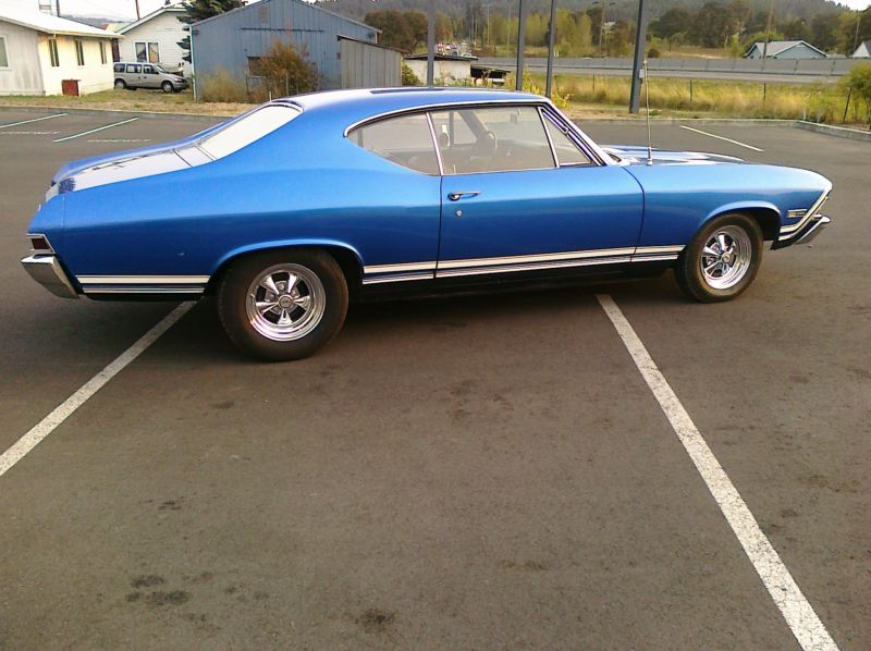 1968 CHEVROLET CHEVELLE CUSTOM 2 DOOR COUPE - Side Profile - 139111