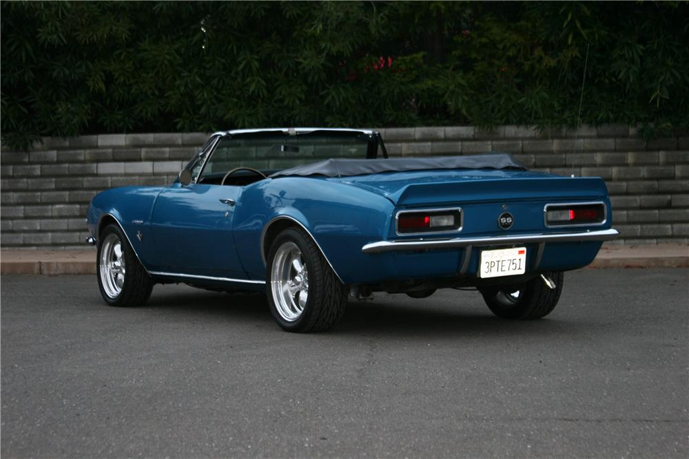 1967 CHEVROLET CAMARO CUSTOM CONVERTIBLE - Rear 3/4 - 139119