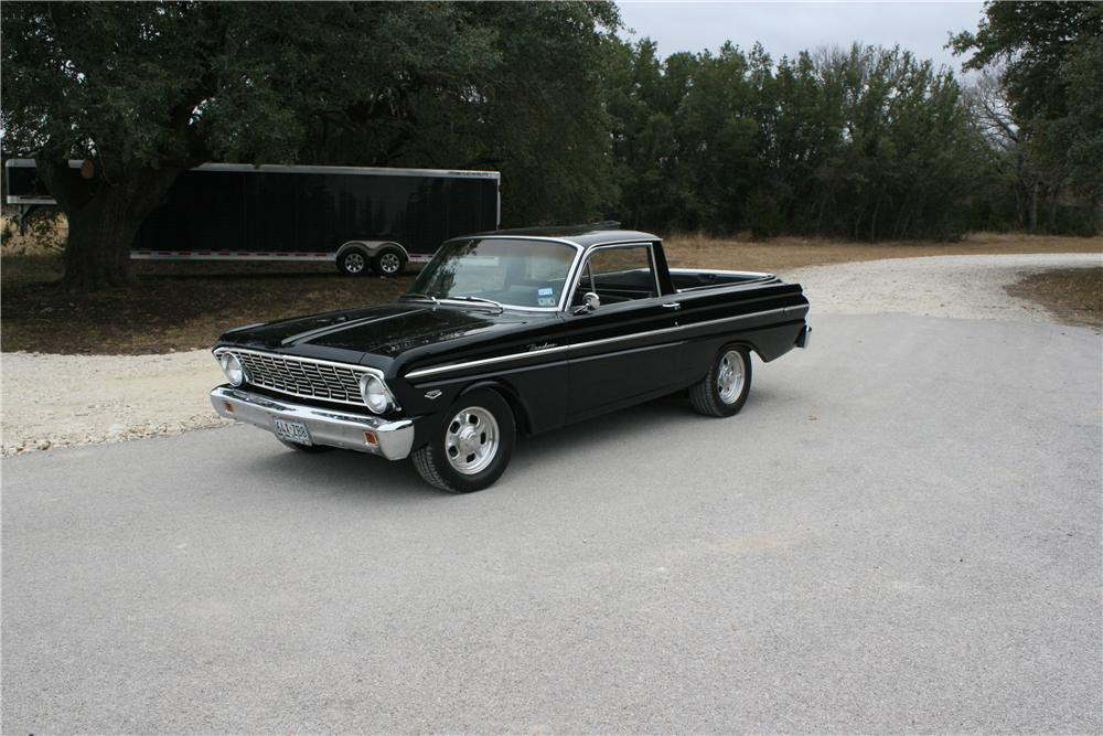 1964 FORD RANCHERO CUSTOM PICKUP - Side Profile - 139136