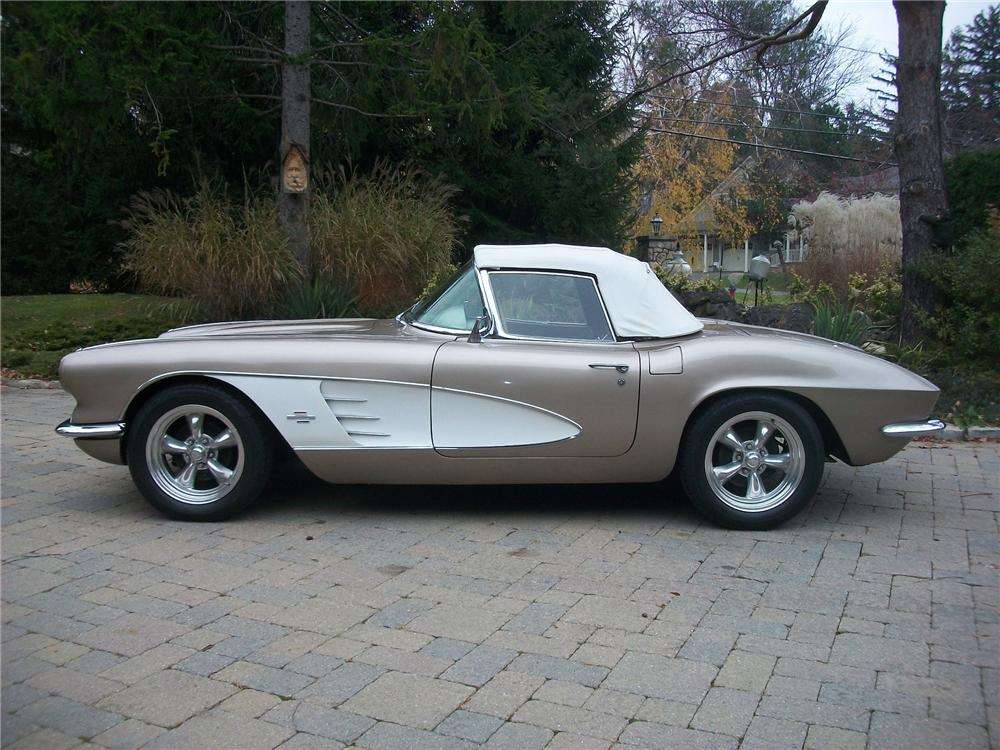 1961 CHEVROLET CORVETTE CUSTOM CONVERTIBLE - Side Profile - 139146