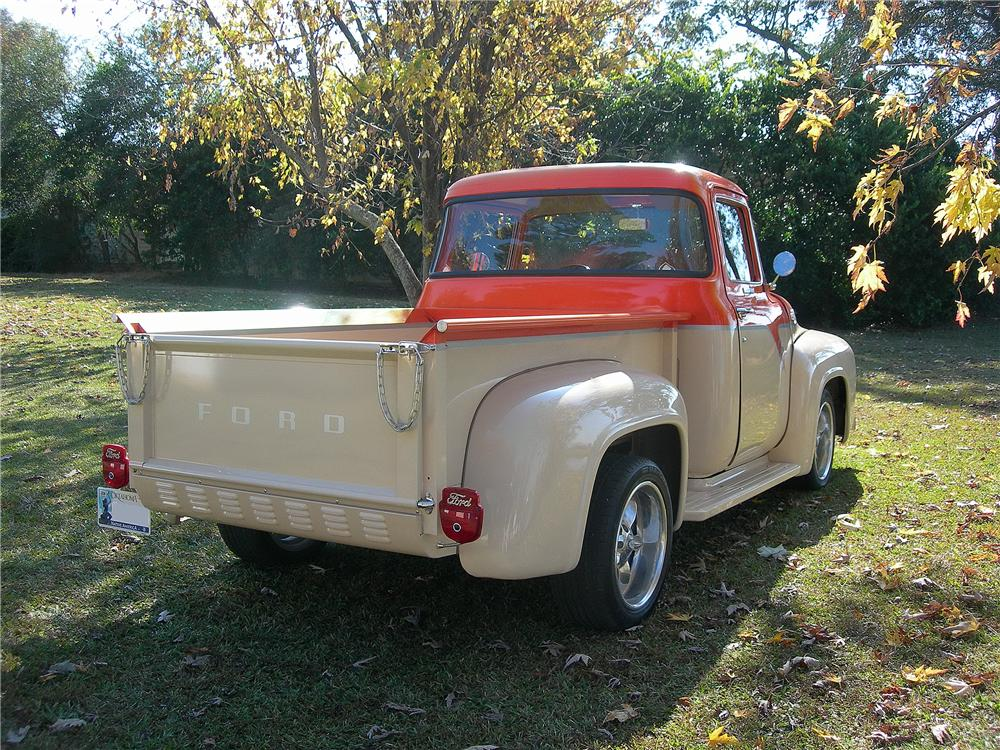 1956 FORD F-100 CUSTOM PICKUP - Rear 3/4 - 139156