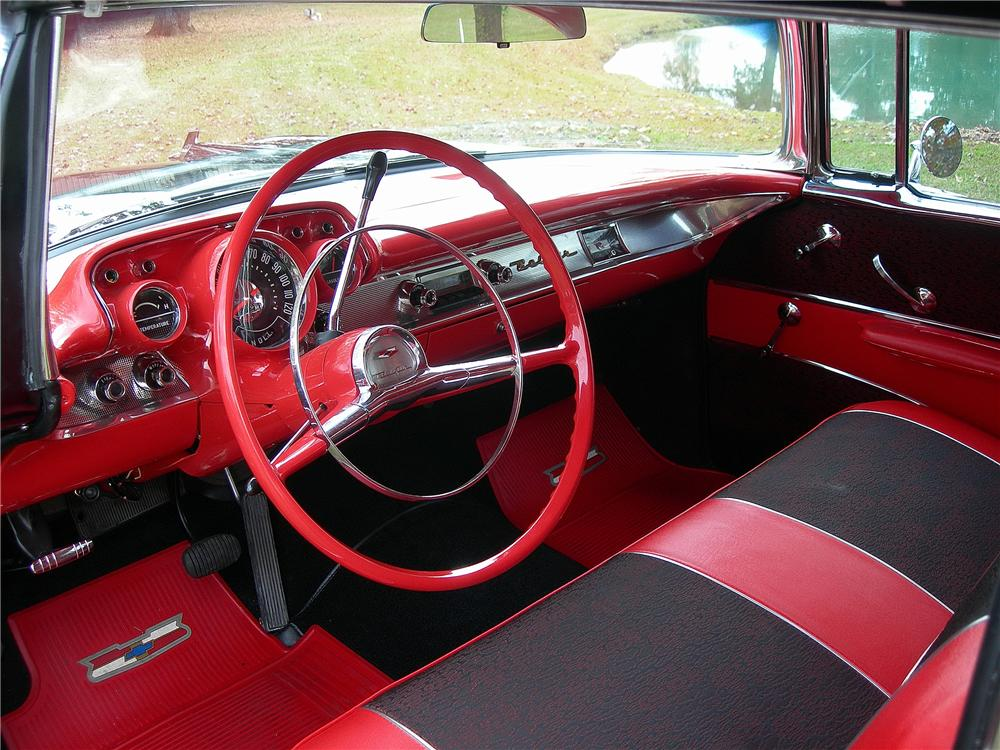 1957 CHEVROLET BEL AIR 2 DOOR HARDTOP - Interior - 139159