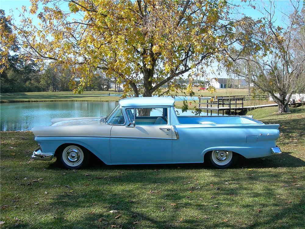 1958 FORD RANCHERO PICKUP - Side Profile - 139164