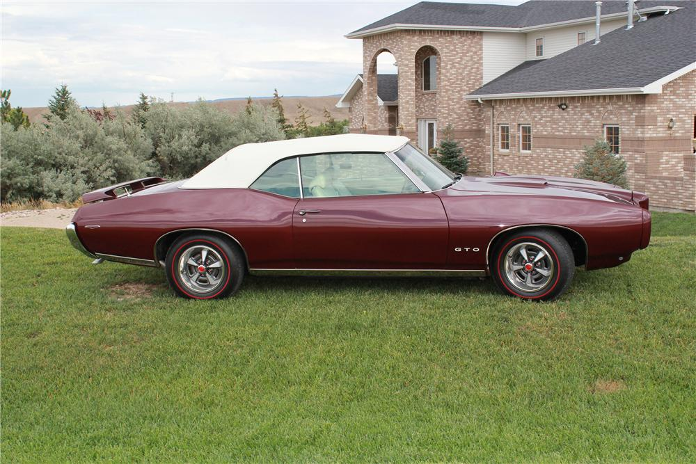 1969 PONTIAC GTO CONVERTIBLE - Side Profile - 139171