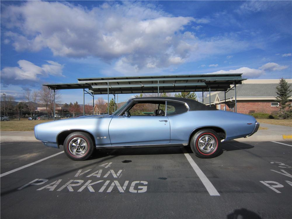 1969 PONTIAC GTO 2 DOOR COUPE - Side Profile - 139173