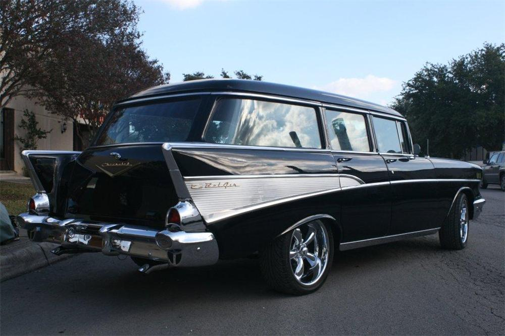 1957 chevrolet custom 4 door station wagon 139233 for 1957 chevy two door wagon