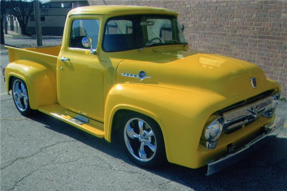 1956 FORD F-100 CUSTOM PICKUP - Front 3/4 - 139293