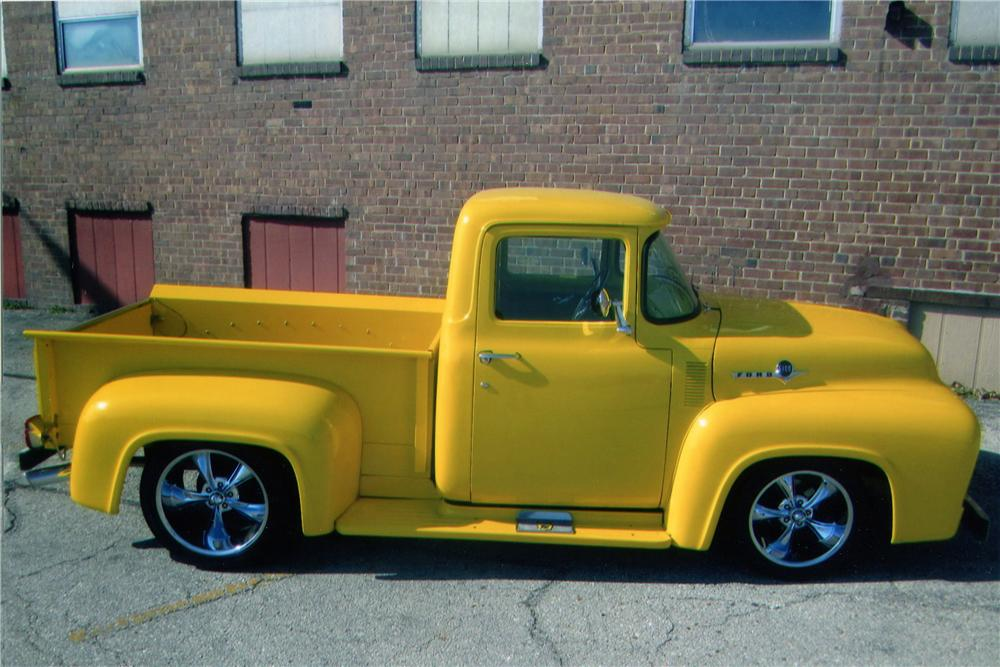 1956 FORD F-100 CUSTOM PICKUP - Side Profile - 139293