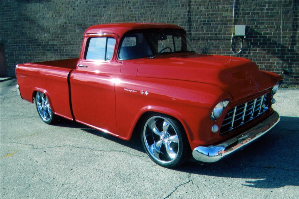 1956 CHEVROLET 3100 CUSTOM PICKUP - Front 3/4 - 139294