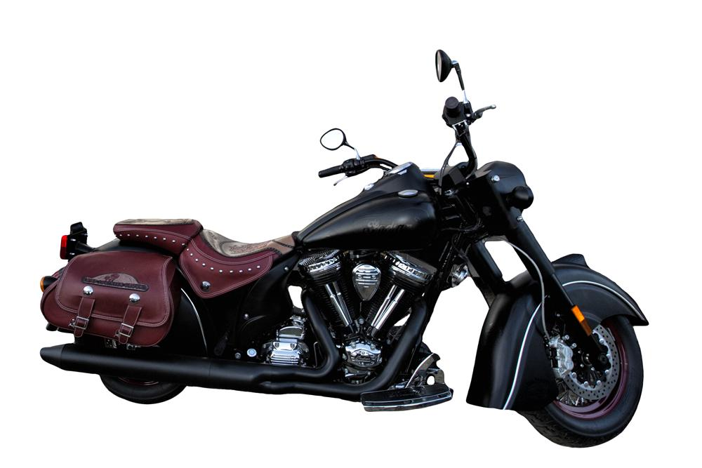 2010 INDIAN CHIEF BLACK HAWK CUSTOM MOTORCYCLE - Front 3/4 - 139307