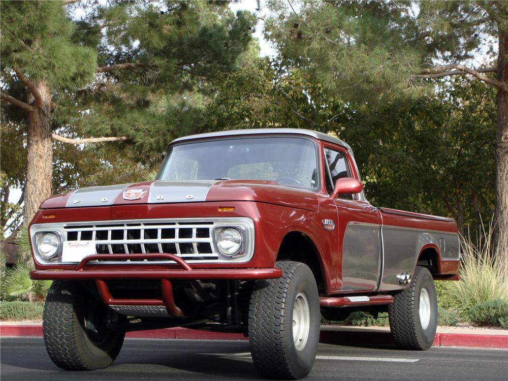 1965 FORD F-100 CUSTOM PICKUP - Front 3/4 - 139363