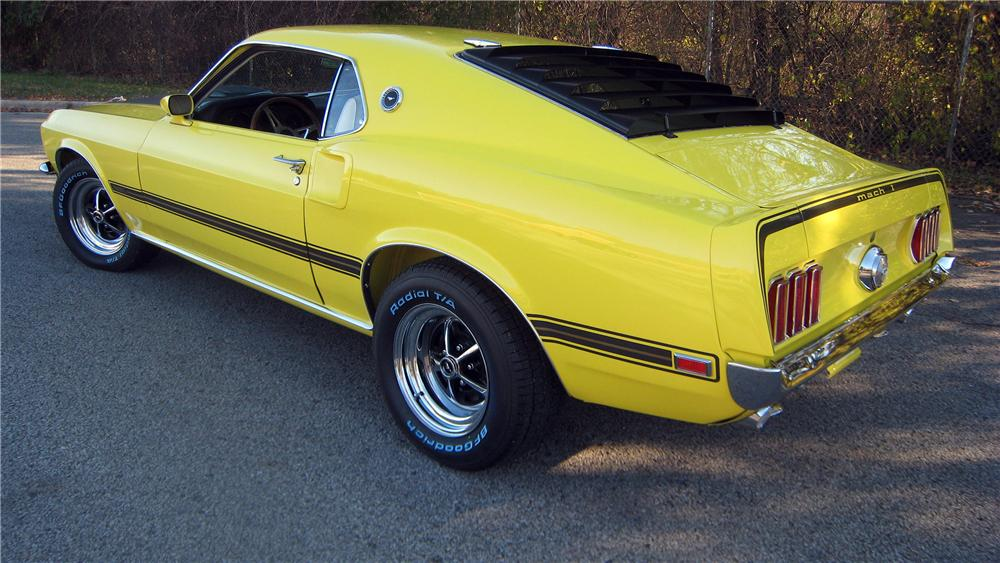 1969 FORD MUSTANG MACH 1 FASTBACK - Rear 3/4 - 139375