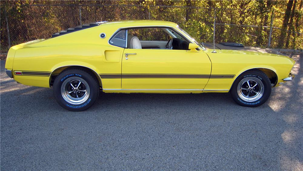 1969 FORD MUSTANG MACH 1 FASTBACK - Side Profile - 139375