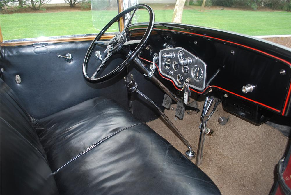 1929 LASALLE CONVERTIBLE - Interior - 139380