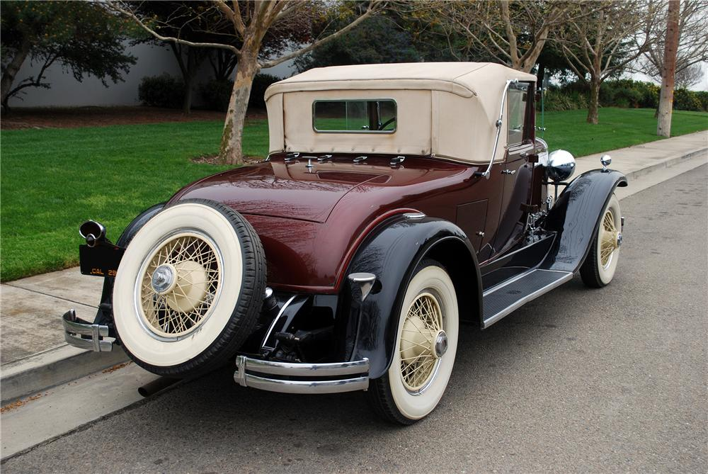 1929 LASALLE CONVERTIBLE - Rear 3/4 - 139380