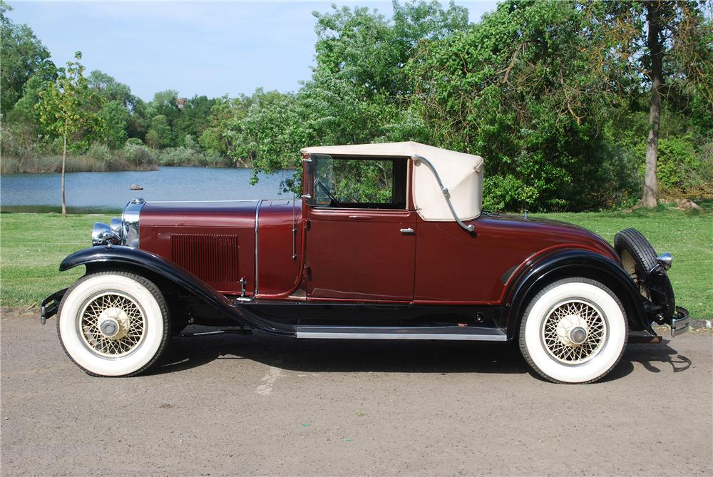 1929 LASALLE CONVERTIBLE - Side Profile - 139380