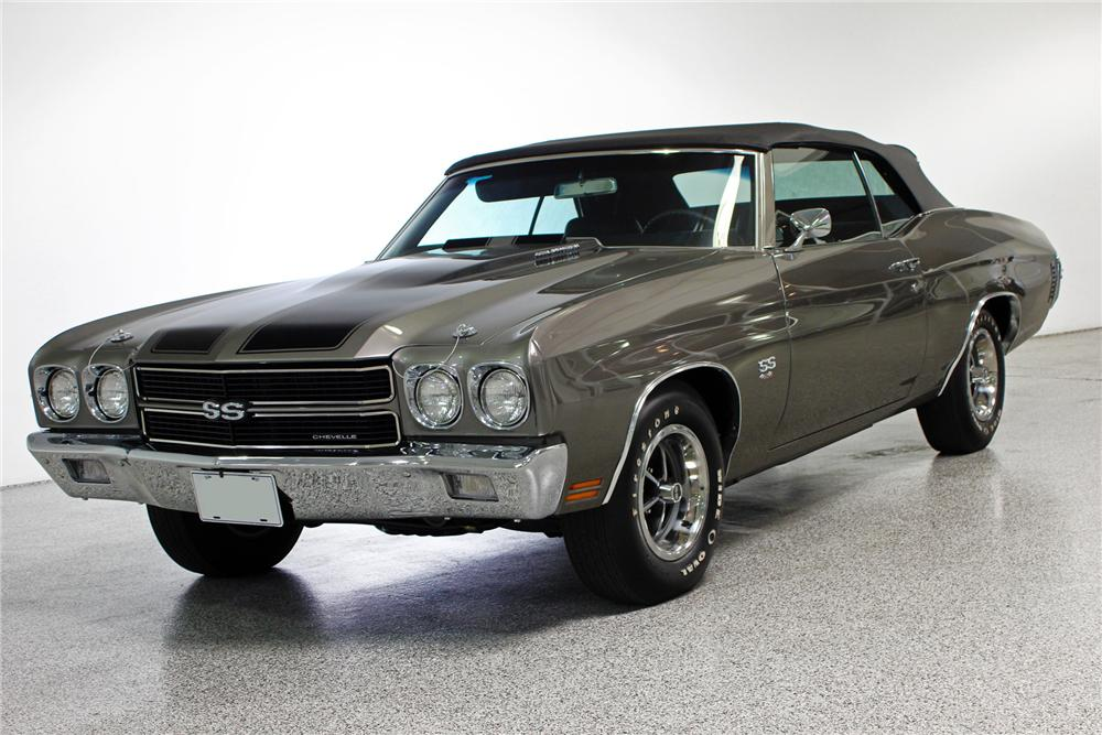 1970 CHEVROLET CHEVELLE CUSTOM CONVERTIBLE - Front 3/4 - 139391