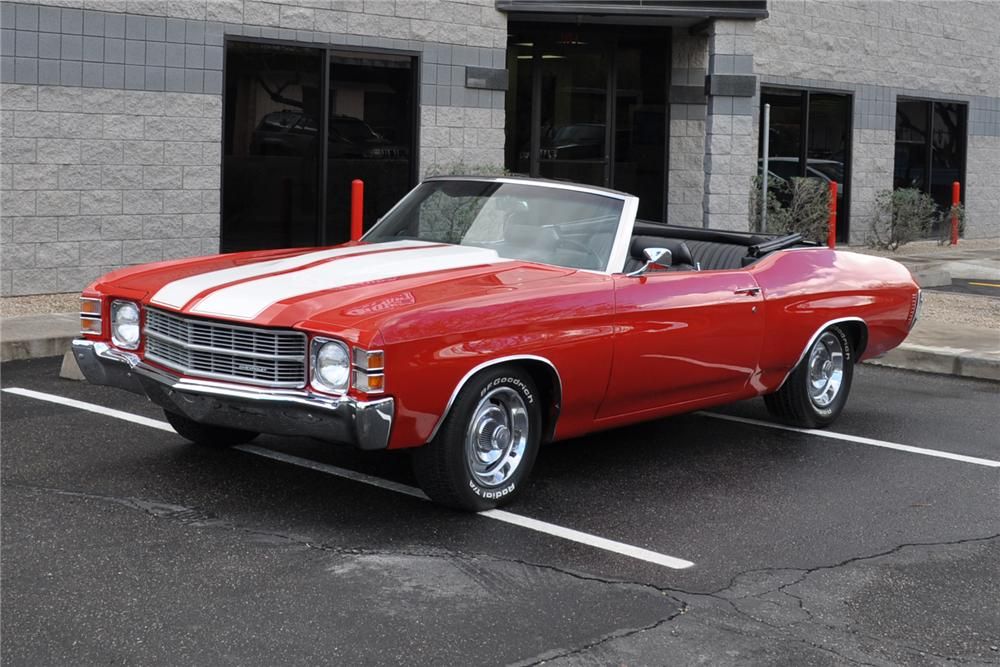1971 CHEVROLET CHEVELLE CONVERTIBLE - Front 3/4 - 139431