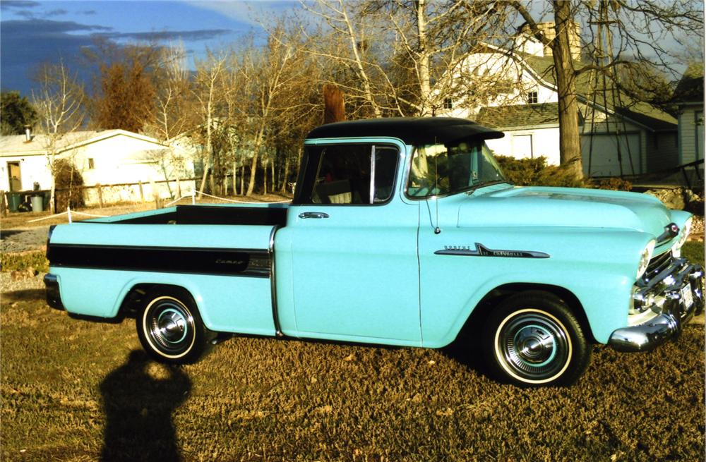1958 CHEVROLET CAMEO PICKUP - Front 3/4 - 139445