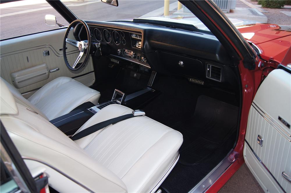 1970 CHEVROLET CHEVELLE SS 396 2 DOOR COUPE - Interior - 139449