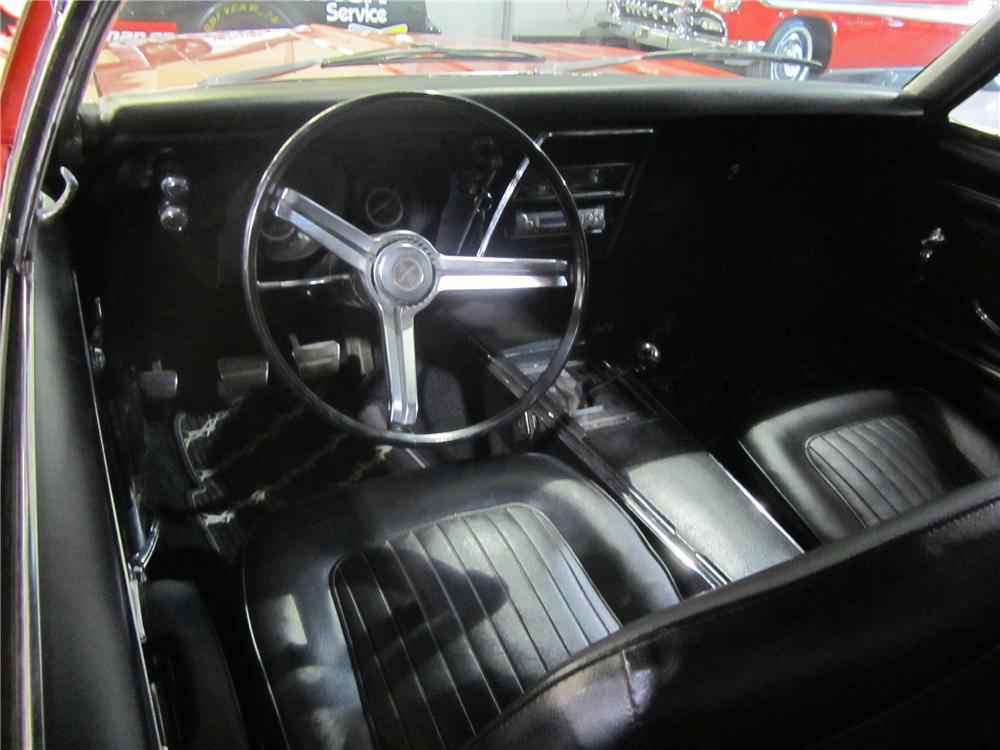 1967 CHEVROLET CAMARO 2 DOOR COUPE - Interior - 139472