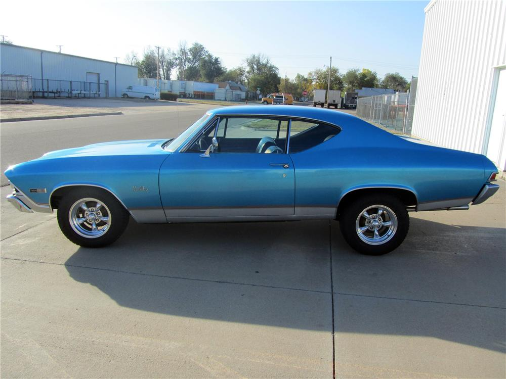 1968 CHEVROLET CHEVELLE MALIBU CUSTOM 2 DOOR COUPE - Side Profile ...