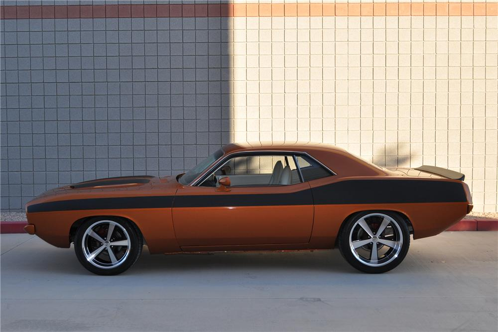 1973 PLYMOUTH BARRACUDA CUSTOM 2 DOOR HARDTOP - Side Profile - 139489
