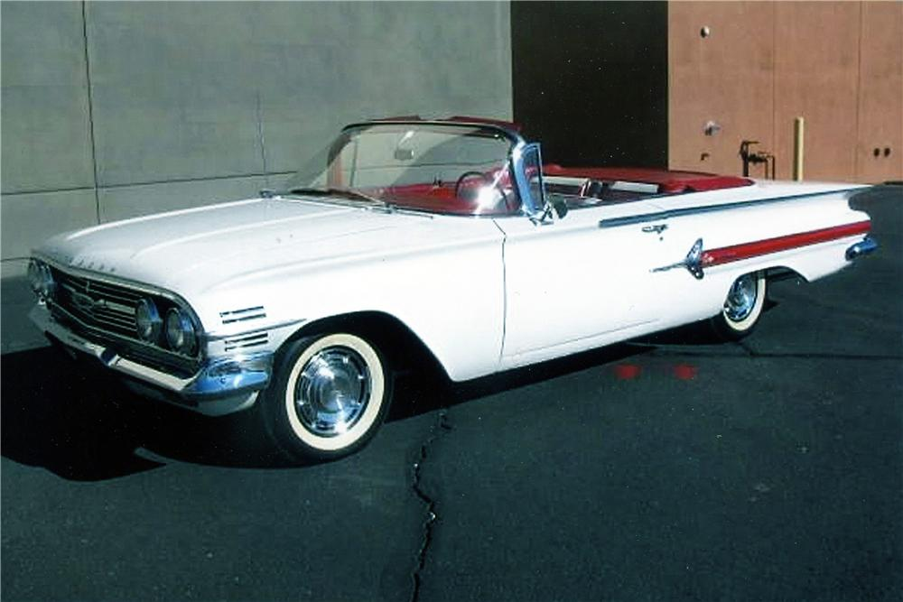 1960 CHEVROLET IMPALA CONVERTIBLE - Front 3/4 - 139492