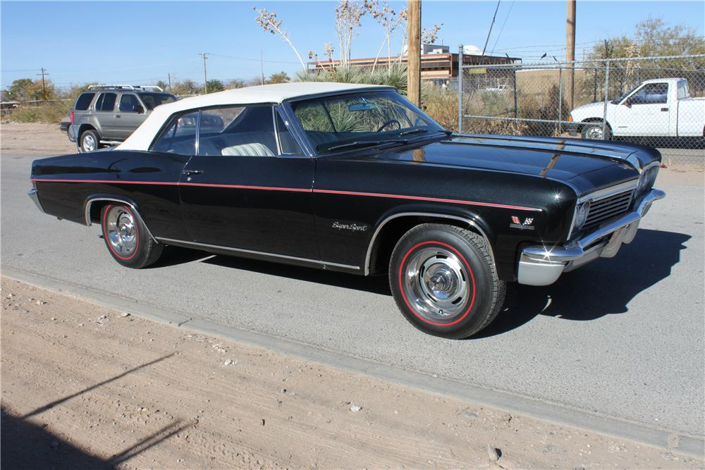1966 CHEVROLET IMPALA SS CONVERTIBLE - Front 3/4 - 139924