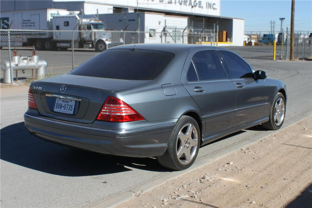 2005 MERCEDES-BENZ S430 4 DOOR SEDAN - Rear 3/4 - 139936