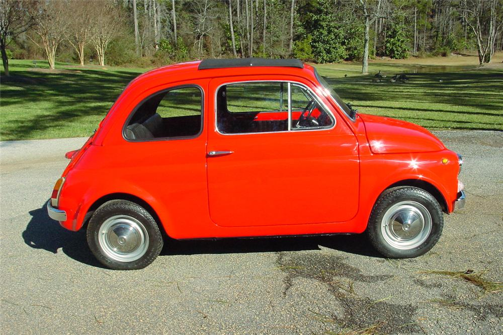 1972 FIAT 500L 2 DOOR COUPE - Side Profile - 151332