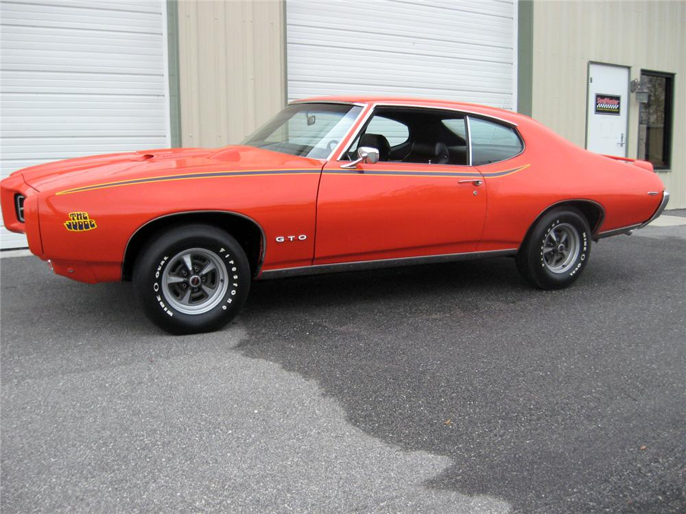 1969 PONTIAC GTO JUDGE 2 DOOR COUPE - Side Profile - 151337