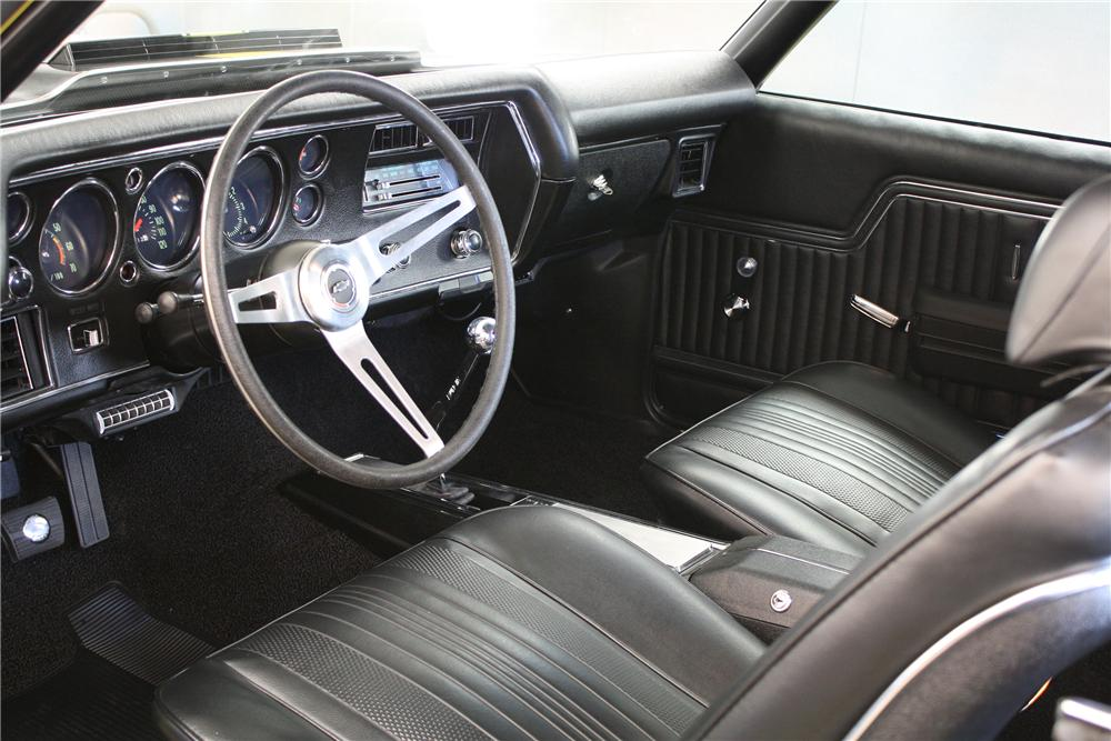 1970 CHEVROLET CHEVELLE SS 396 2 DOOR COUPE - Interior - 151343