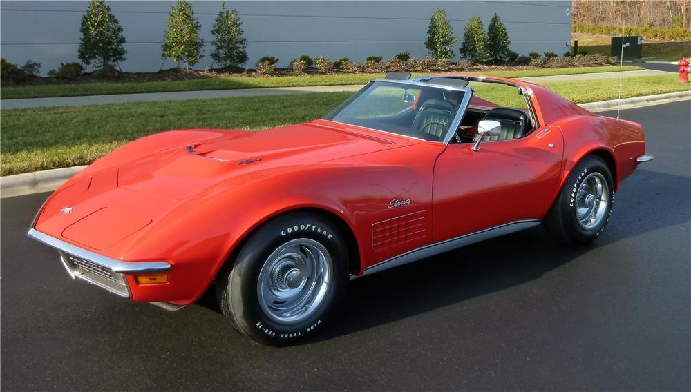 1970 CHEVROLET CORVETTE 2 DOOR COUPE - Front 3/4 - 151345