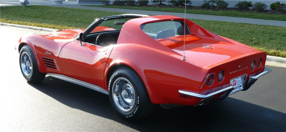 1970 CHEVROLET CORVETTE 2 DOOR COUPE - Rear 3/4 - 151345