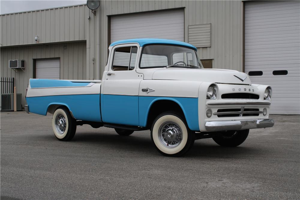 1957 DODGE D-100 SWEPTSIDE PICKUP - Front 3/4 - 151375