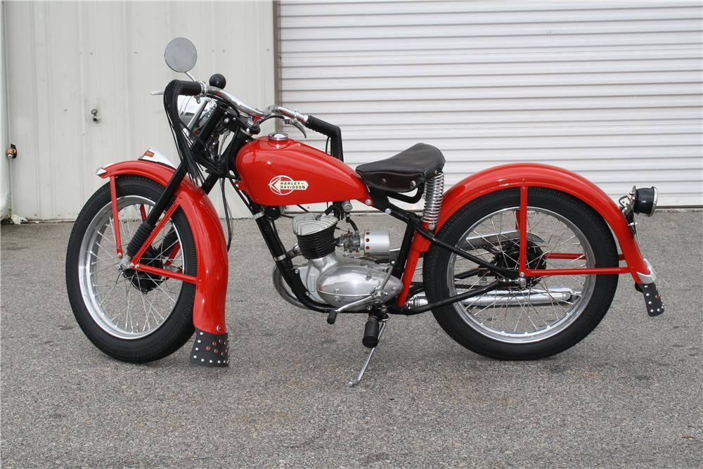 1959 HARLEY-DAVIDSON HUMMER MOTORCYCLE - Side Profile - 151420