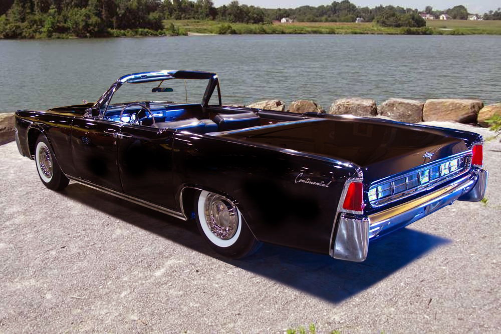 1963 LINCOLN CONTINENTAL CONVERTIBLE - Rear 3/4 - 151421