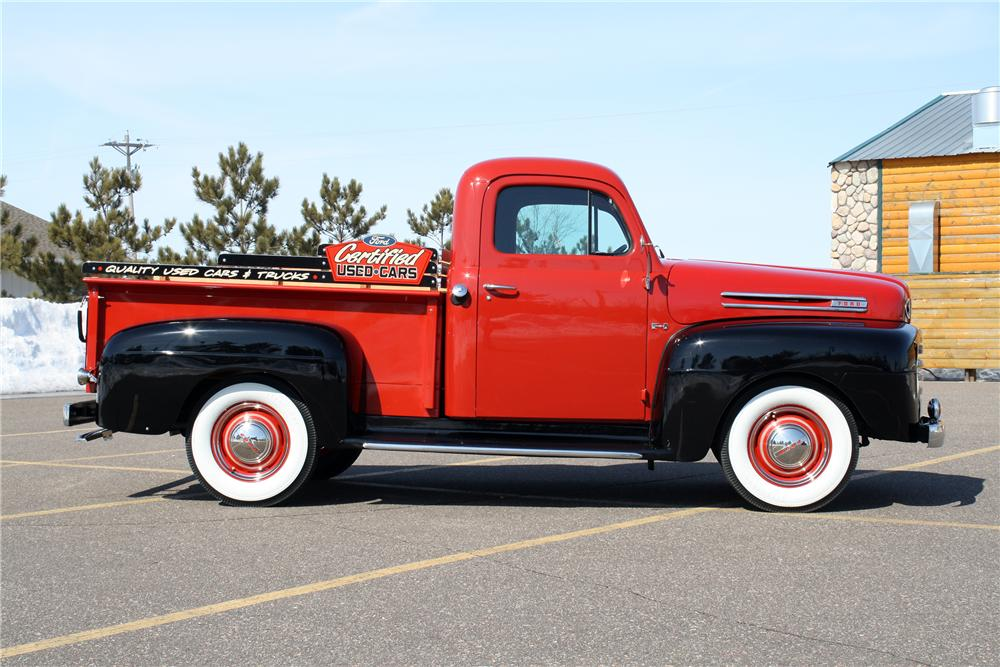 1950 FORD F-1 PICKUP - Side Profile - 151424