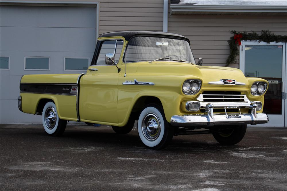 1958 CHEVROLET CAMEO PICKUP - Front 3/4 - 151427