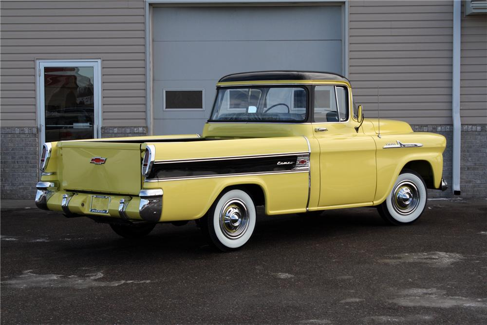 1958 CHEVROLET CAMEO PICKUP - Rear 3/4 - 151427