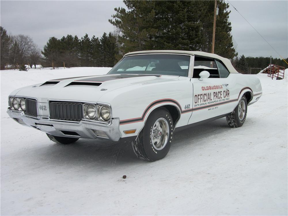1970 OLDSMOBILE CUTLASS 442 PACE CAR CONVERTIBLE - Front 3/4 - 151438