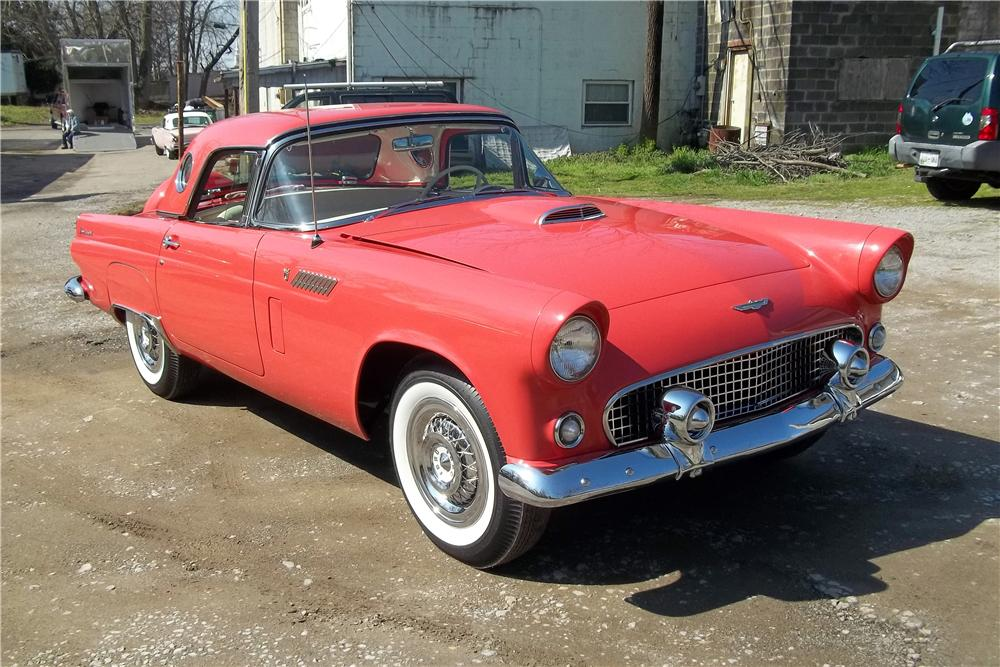 1956 FORD THUNDERBIRD CONVERTIBLE - Front 3/4 - 151471