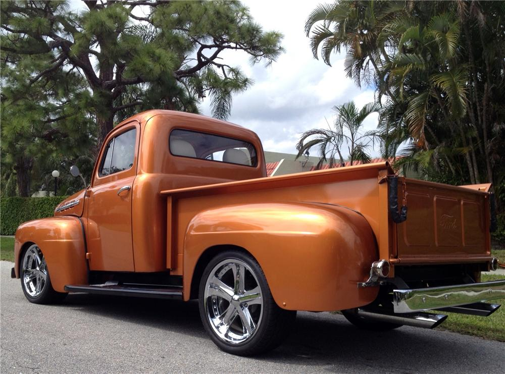 1951 FORD F-1 CUSTOM PICKUP - Rear 3/4 - 151474