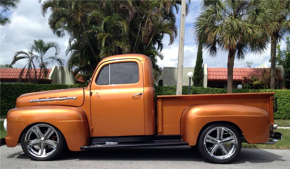 1951 FORD F-1 CUSTOM PICKUP - Side Profile - 151474