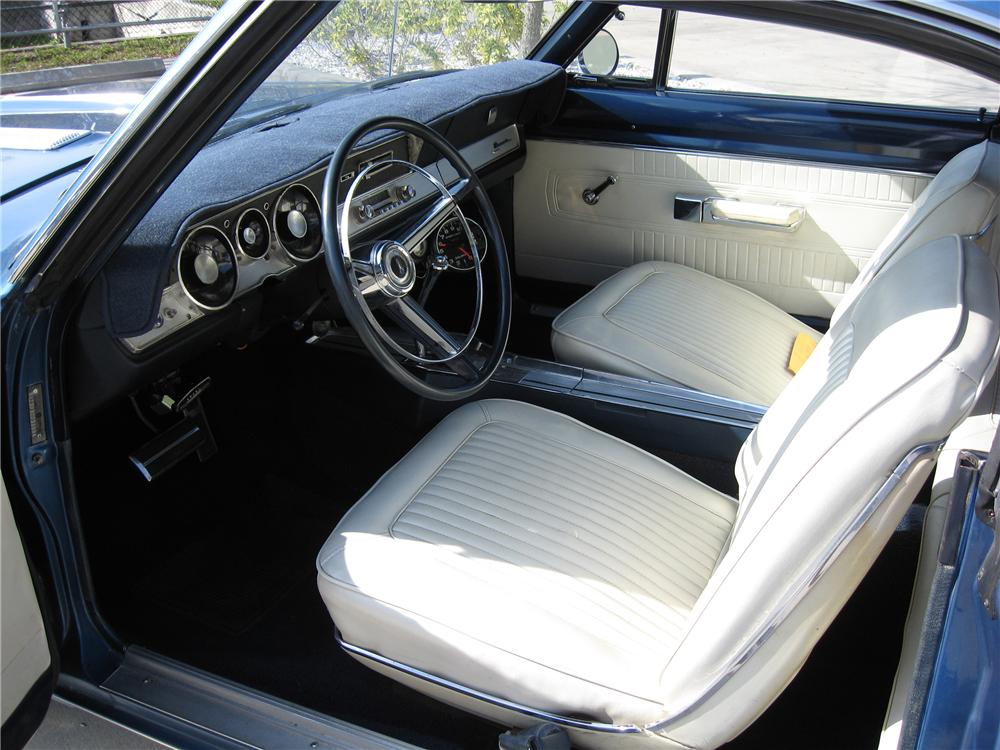 1967 PLYMOUTH BARRACUDA 2 DOOR HARDTOP - Interior - 151588