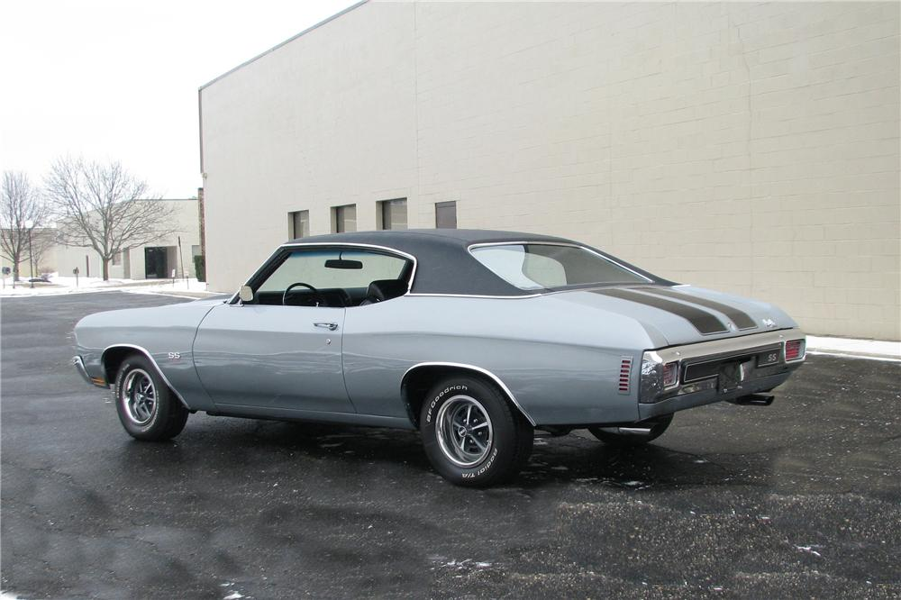 1970 CHEVROLET CHEVELLE SS LS6 2 DOOR COUPE - Rear 3/4 - 151655