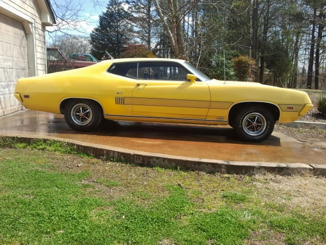 1970 FORD TORINO GT 2 DOOR COUPE - Side Profile - 151666