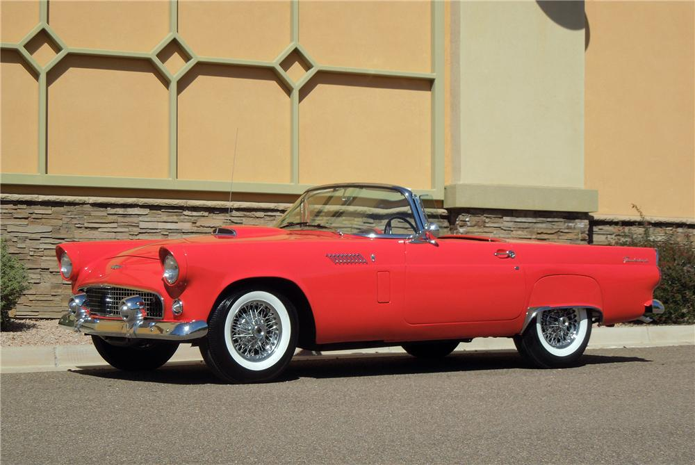1956 FORD THUNDERBIRD CONVERTIBLE - Side Profile - 151690