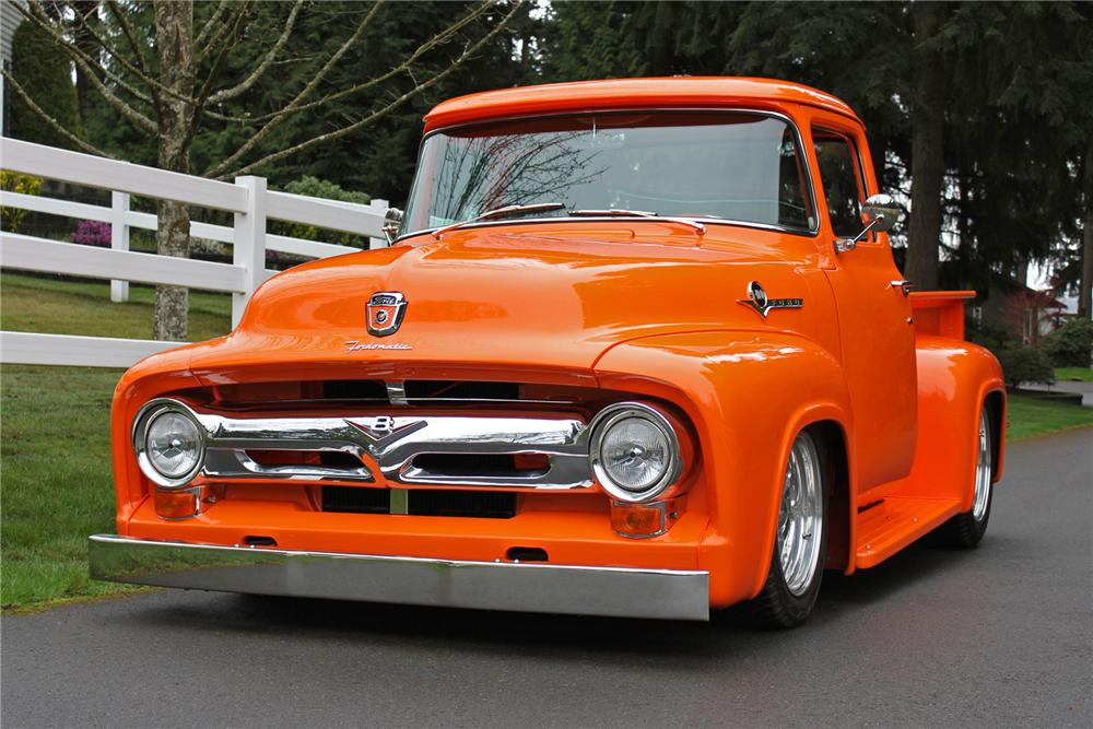 1956 FORD CUSTOM PICKUP - Front 3/4 - 151702